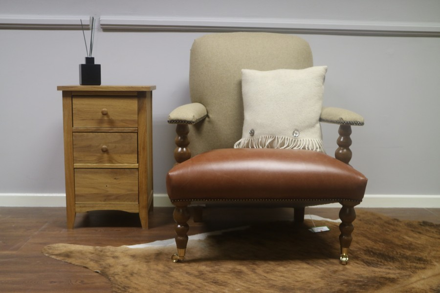 CH Chair - Chair - New England Saddle/Moon Wool