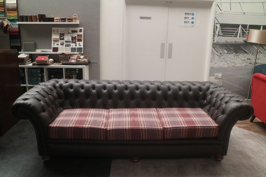 Calvert Luxury Leather Sofa - 4 Seater - Panaz Aston Espresso