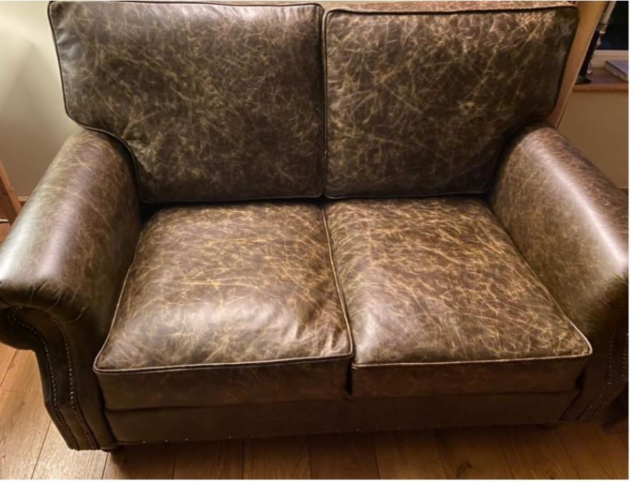 Berkeley Vintage Leather Sofa - 2 Seater - Vintage Truffle