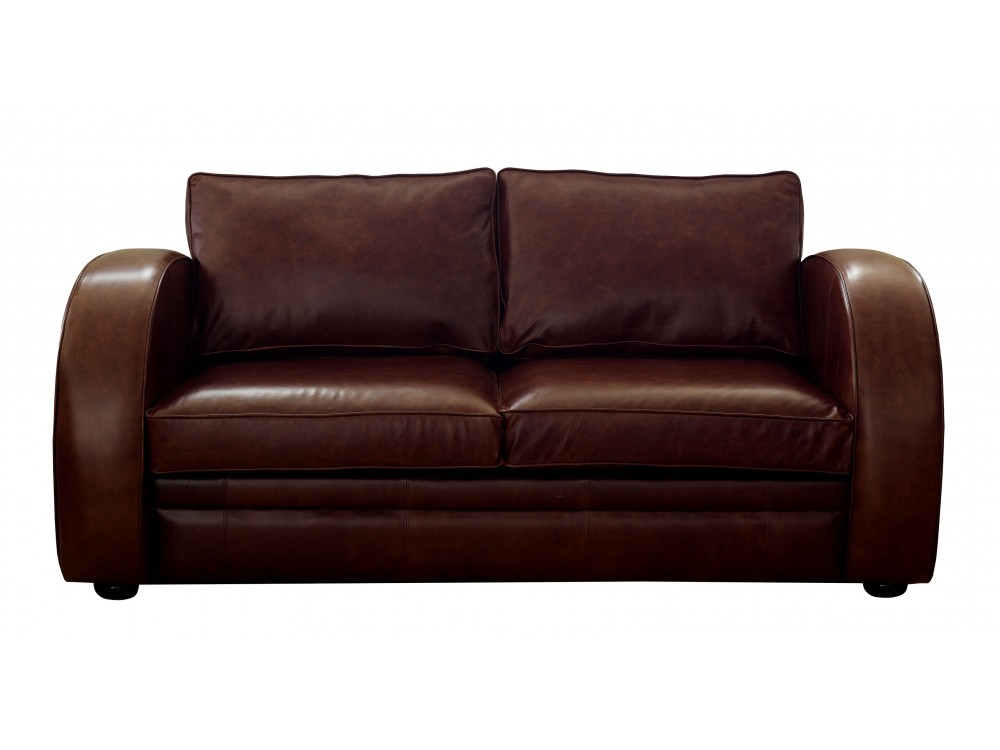 Leather sofa bed astoria art deco sofa beds for Leather furniture