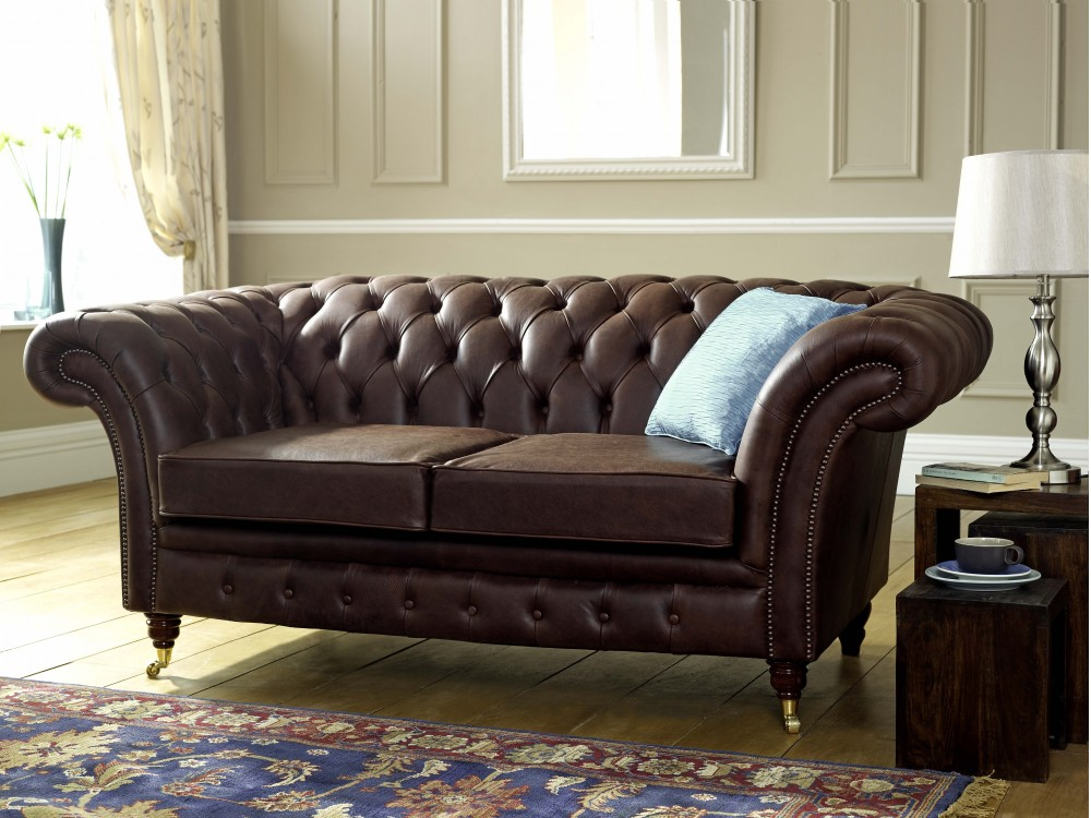 blenheim leather chesterfield sofa living room sofas