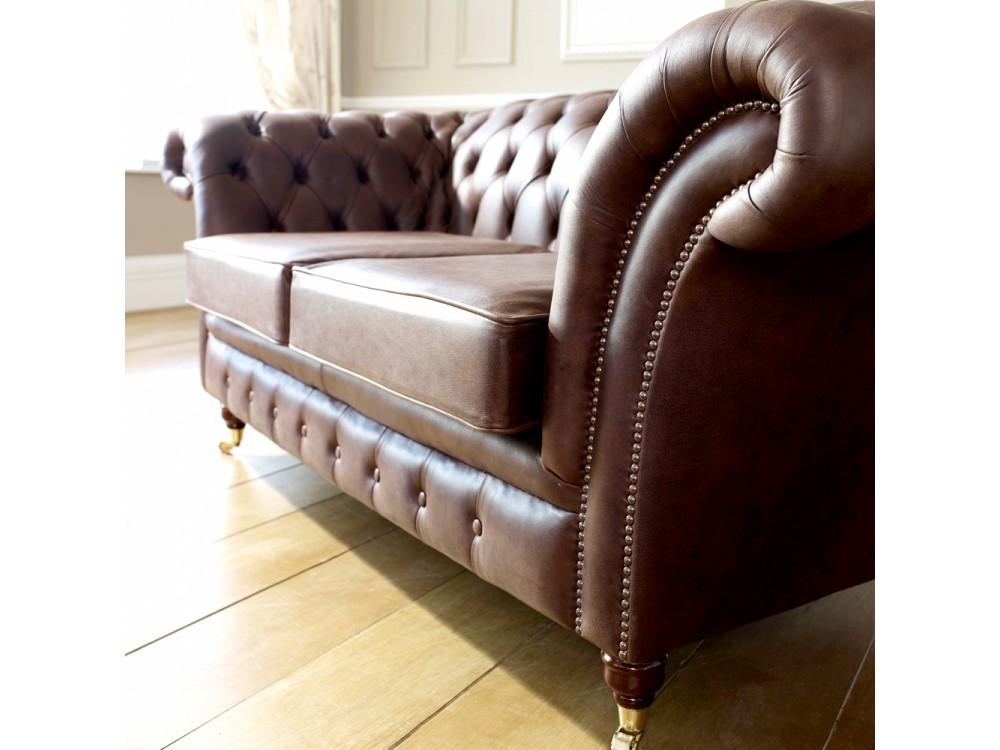 Blenheim Leather Chesterfield Sofa Living Room Sofas
