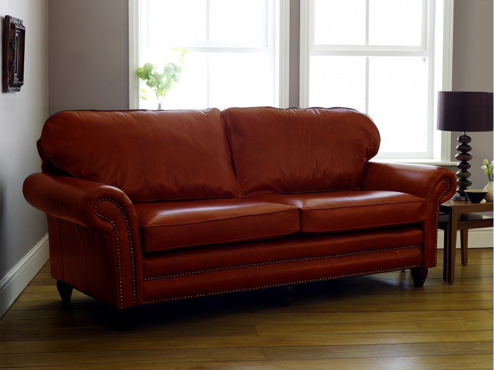 Canterbury leather sofa the chesterfield company for Furniture leather sofa