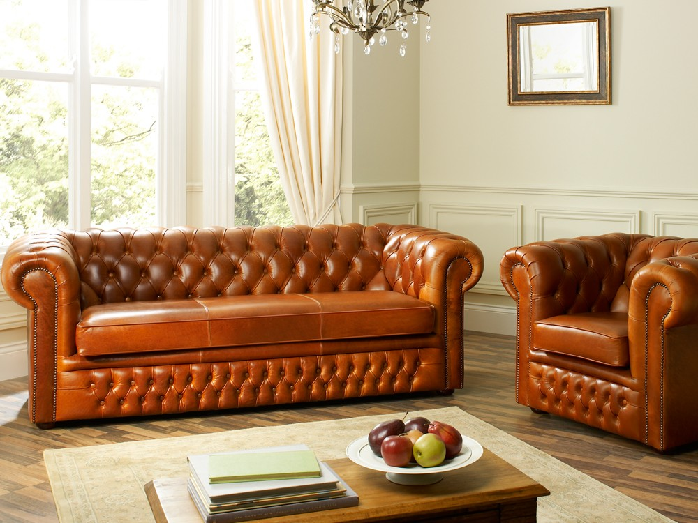 Heaton Leather Chesterfield Sofa Bed Chesterfield Sofa Beds