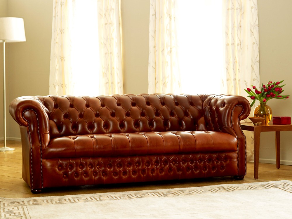 Richmount leather chesterfield sofa for Couch chesterfield