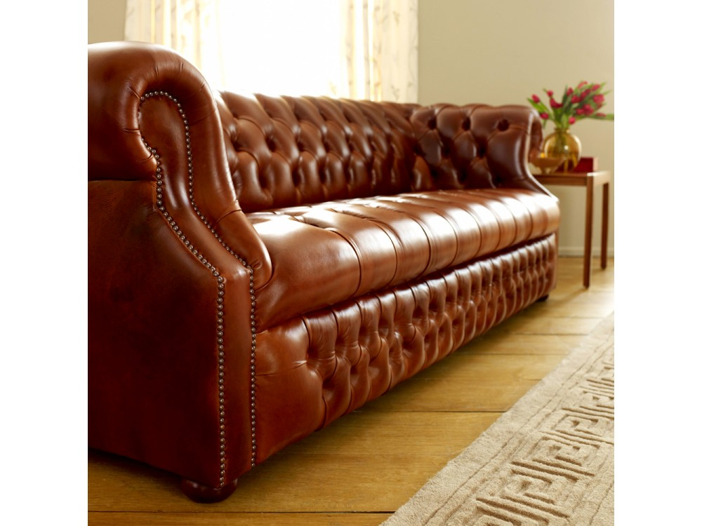 richmount leather chesterfield sofa click to zoom. Black Bedroom Furniture Sets. Home Design Ideas