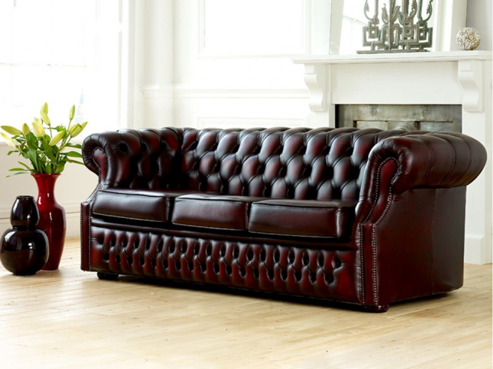richmount leather chesterfield sofa sale items. Black Bedroom Furniture Sets. Home Design Ideas