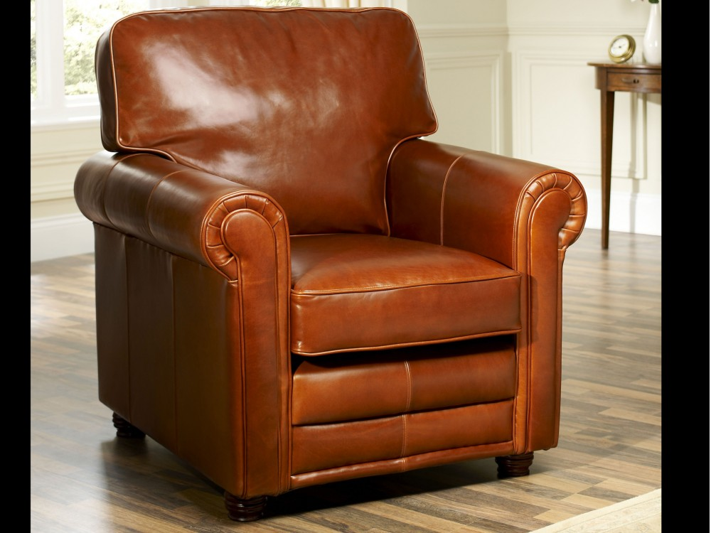 English Leather Armchair Lancaster Armchairs