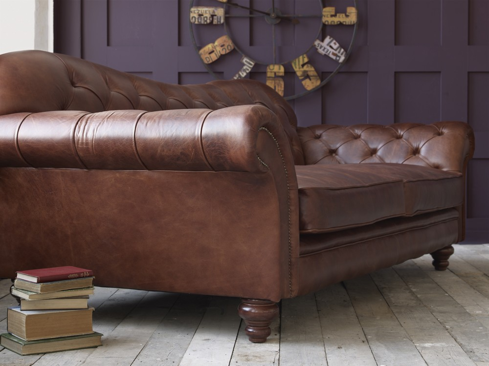 vintage brown leather sofa. Black Bedroom Furniture Sets. Home Design Ideas