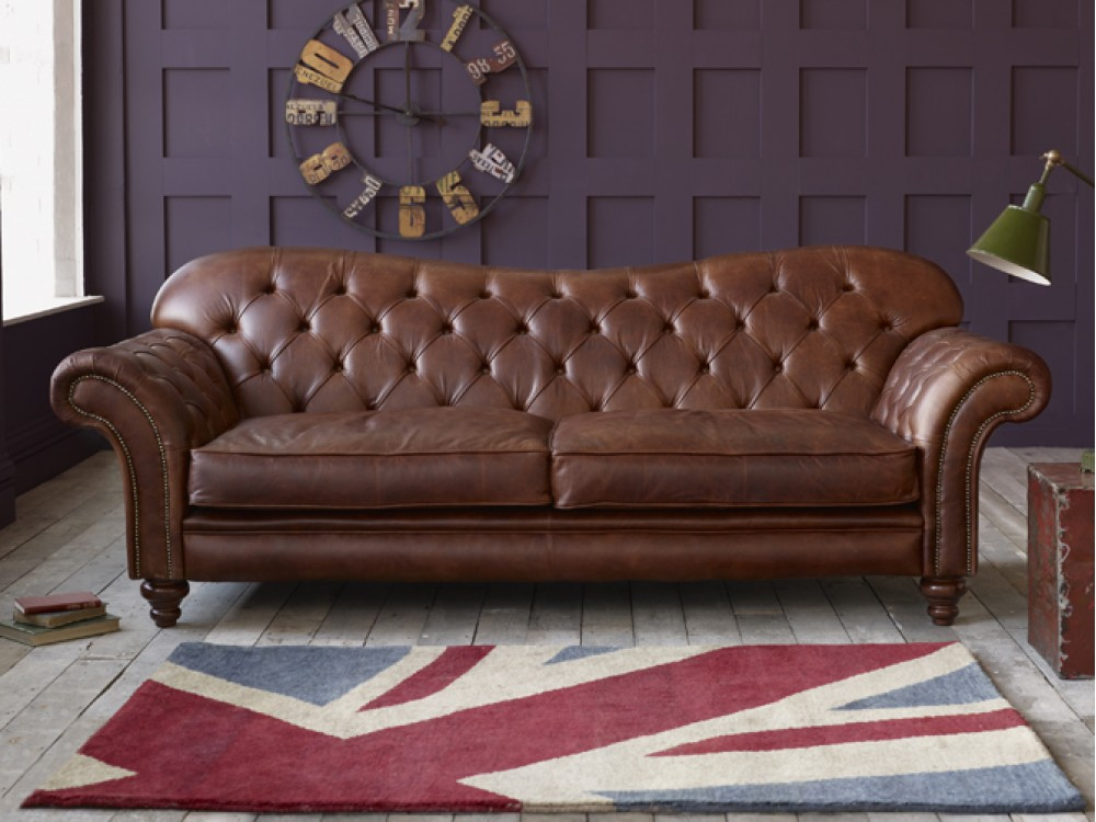 arundel vintage brown leather sofa. Black Bedroom Furniture Sets. Home Design Ideas