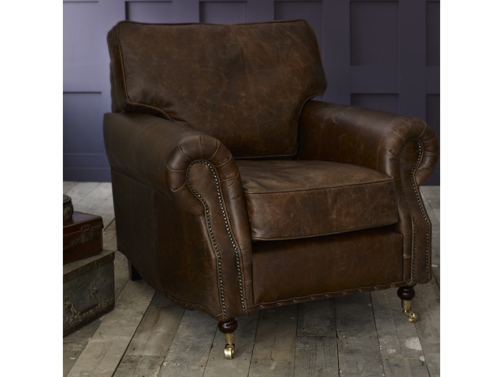 Berkeley Vintage Leather Chair Leather Armchairs