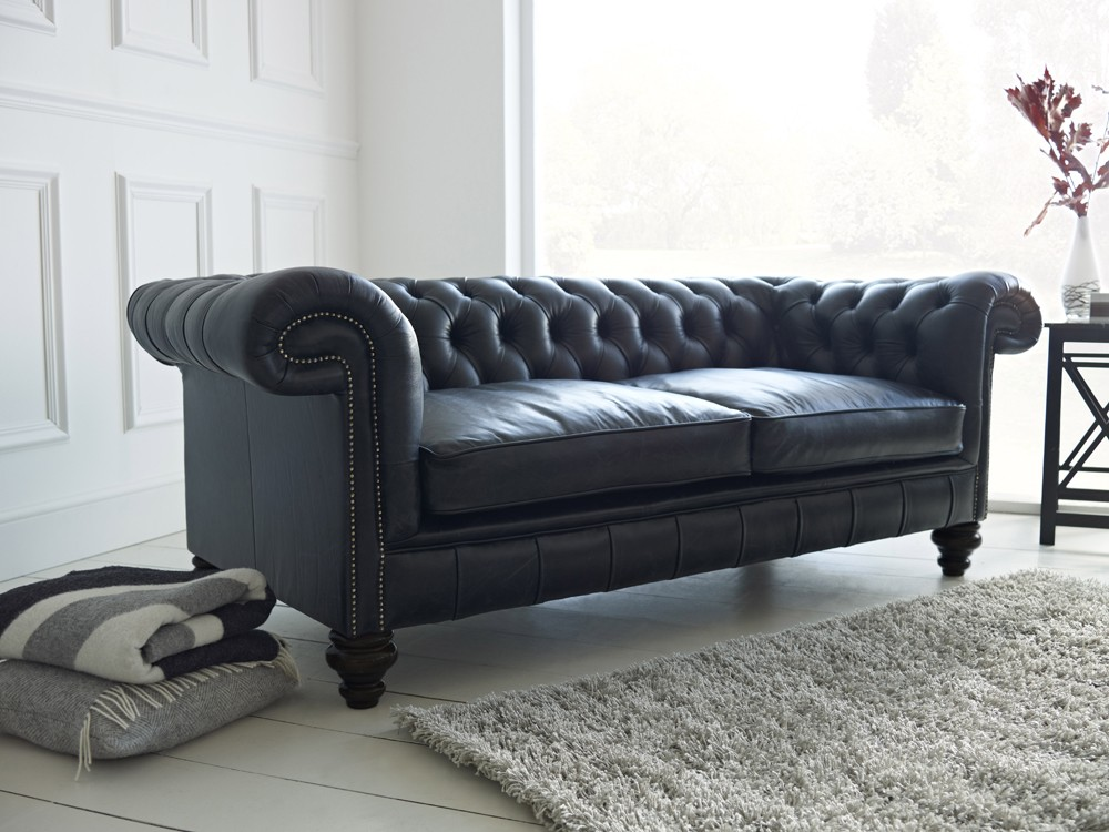 Black Leather Chesterfield Sofa Paxton Chesterfield Sofas