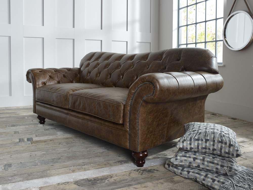 Vintage Brown Leather Sofa Arundel Chesterfield Sofas