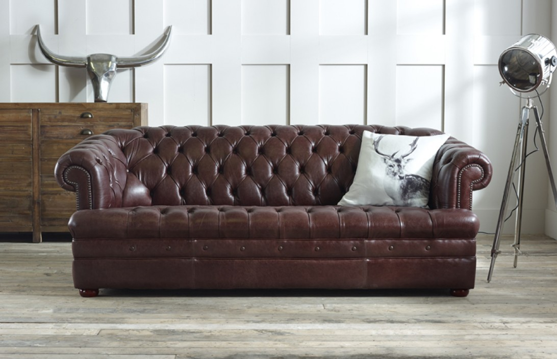Baron Brown Leather Chesterfield Chesterfield Company