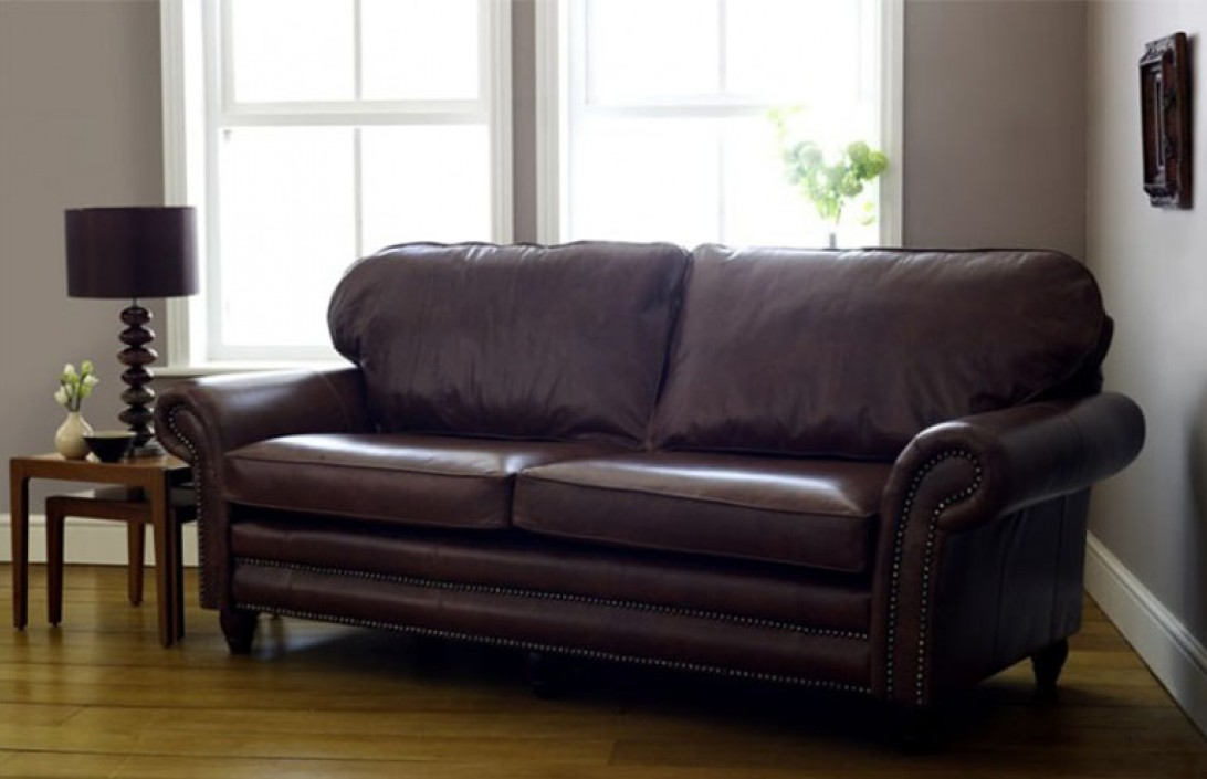Canterbury sofa sofology canterbury mink sofa in kingswood for Traditional leather furniture