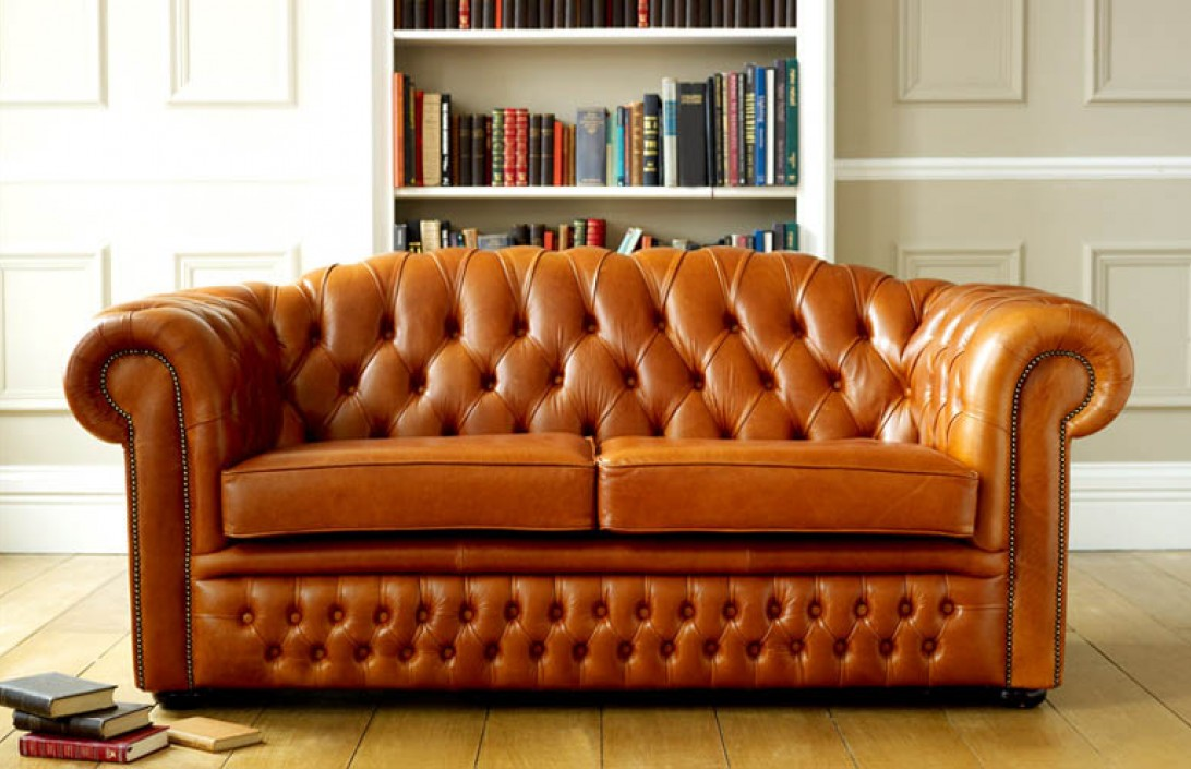 Oxley Classic Leather Chesterfield Sofa Bed