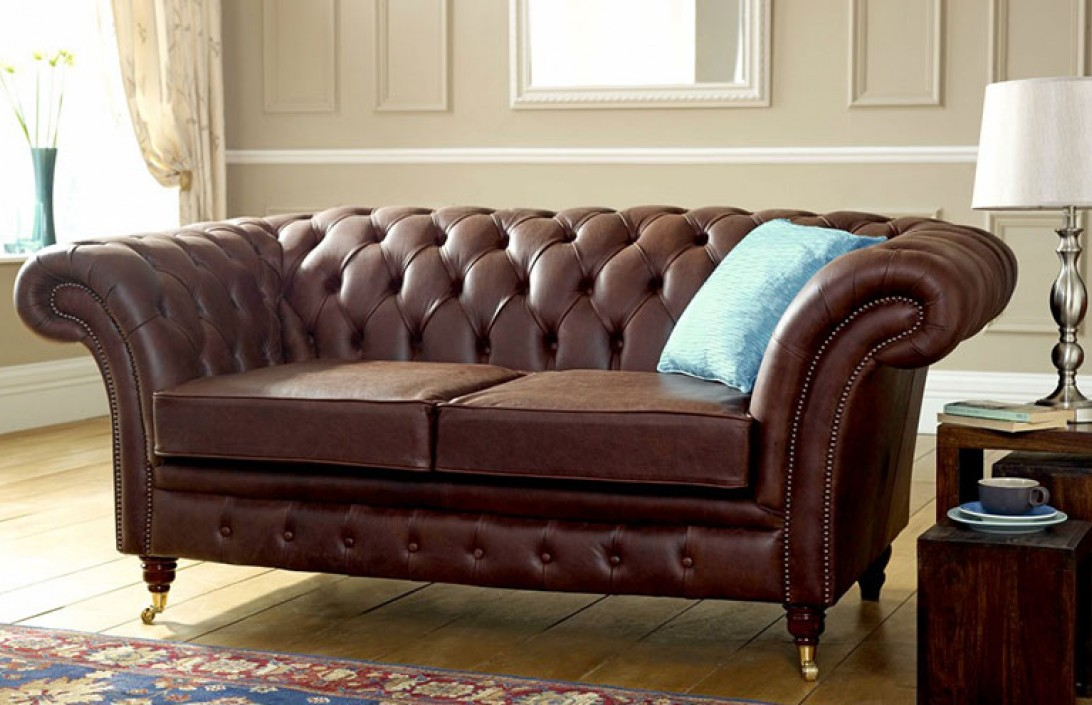 Blenheim Leather Chesterfield Sofa