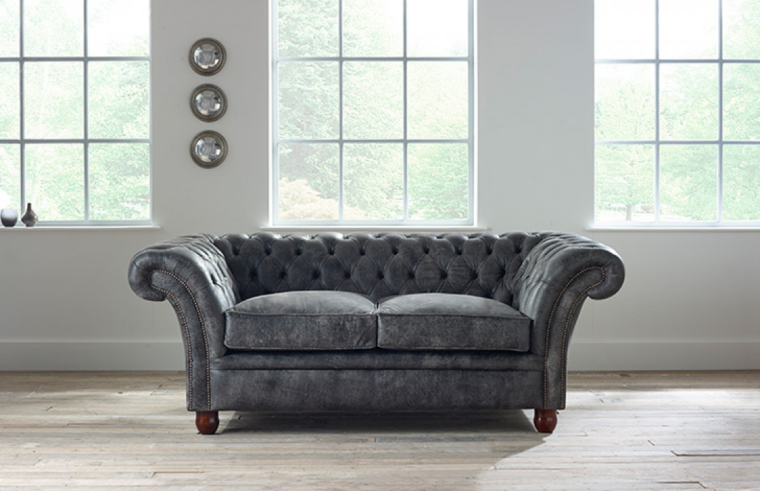 Luxury Leather Ottoman ~ Calvert luxury leather sofa chesterfield company