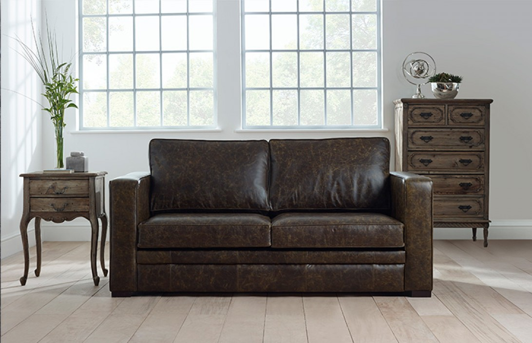distressed leather sofa bed chesterfield company. Black Bedroom Furniture Sets. Home Design Ideas