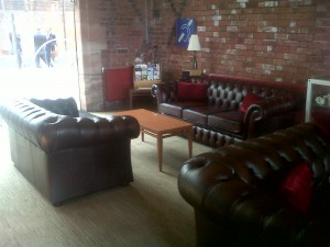 Gladbury Sofas in the First Class Lounge