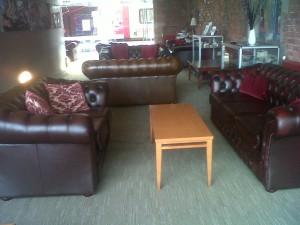 Virgin First Class Lounge featuring Gladbury Sofas