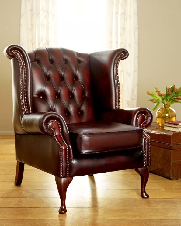 Scroll Wing Vintage Armchair