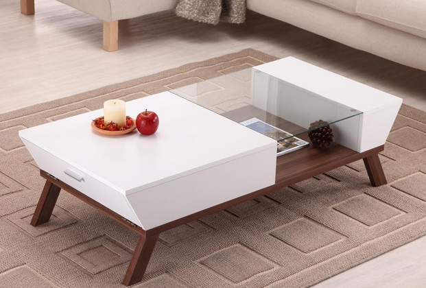 Like Cornered, The Braxton Coffee Table From Enitial Lab Puts Your  Magazines Out Of The Way, Yet On Display.