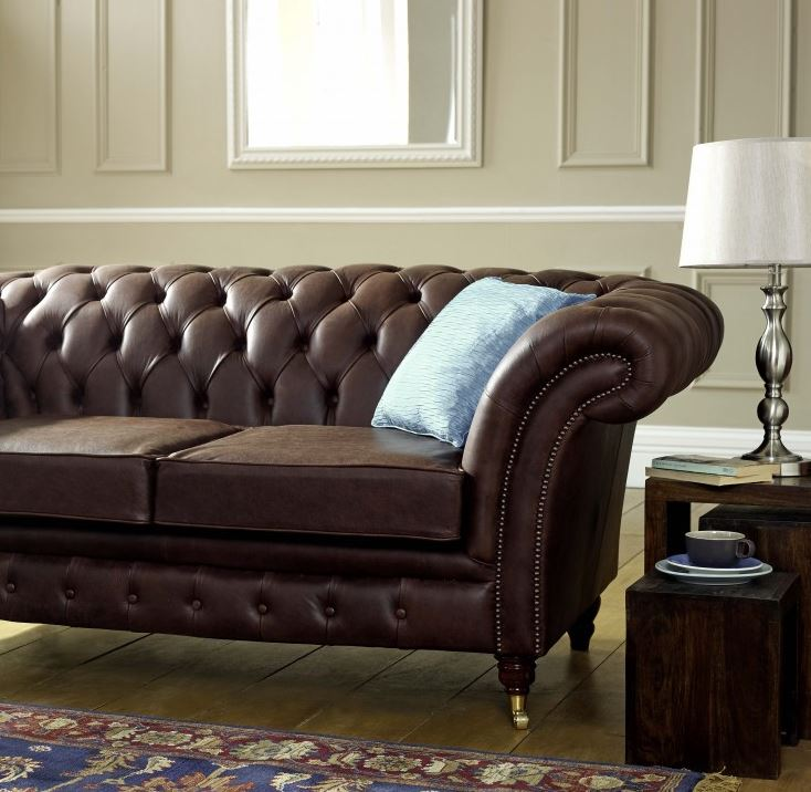 Blenheim Leather Chesterfield