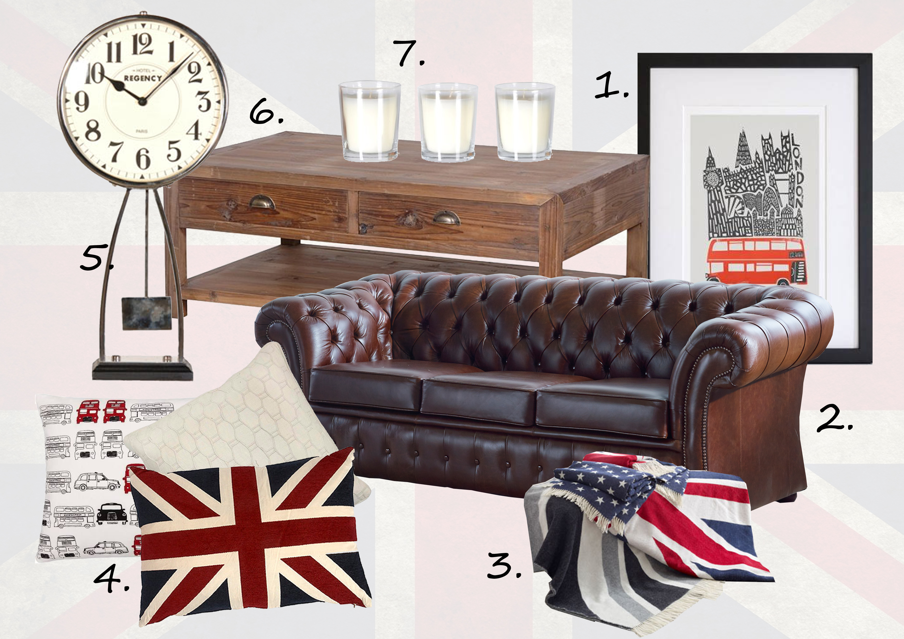 British mood board