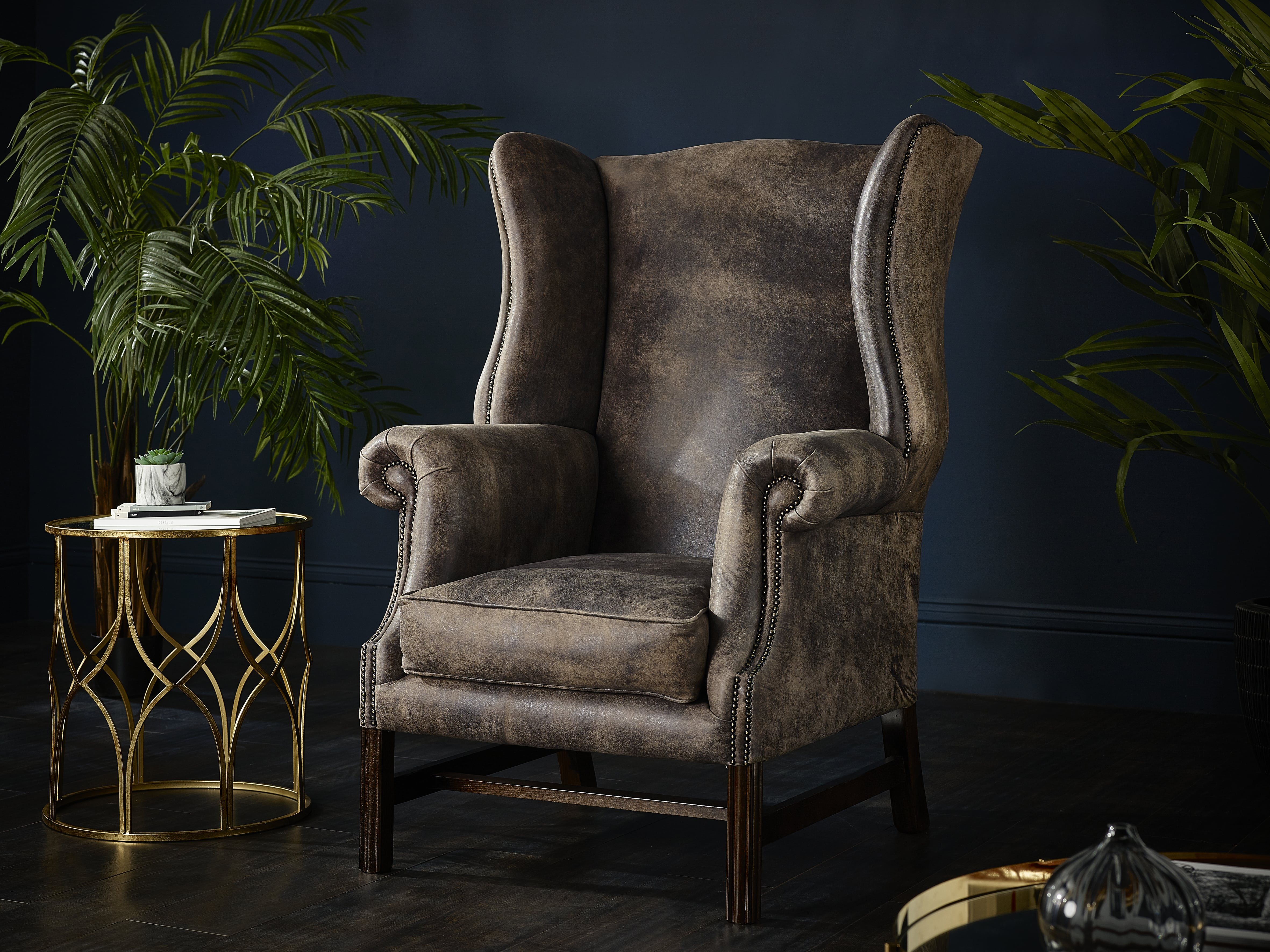 Vintage and Contemporary Wing Chair